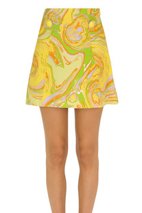 Printed mini skirt Mulberry