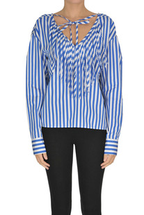 Striped blouse with fringes MSGM