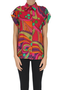 Printed cotton t-shirt Alberta Ferretti