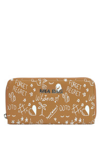 Printed eco-leather wallet Mia Bag