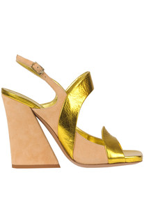 Leather and suede sandals Dries Van Noten