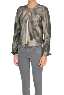 Metallic effect suede jacket Myskin
