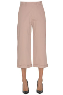 Cropped cotton trousers N.21