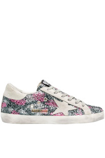 Glittered Super Star sneakers Golden Goose Deluxe Brand