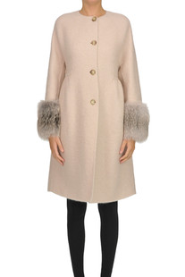 new style 5a7fe ce932 Cappotto in misto mohair