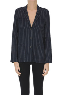 Striped linen-blend blazer Diega