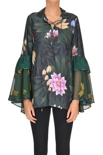 Flower print satin blouse F.R.S for Restless Sleepers