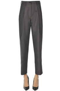 Iridescent fabric trousers Dries Van Noten
