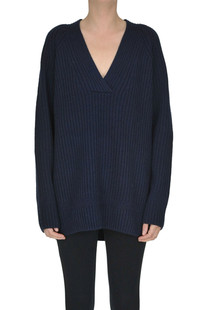 Ribbed knit oversized pullover Dries Van Noten