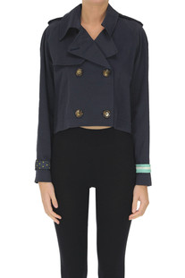 Cropped double breasted jacket Front Street 8