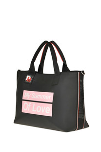 Pvc and fabric shopping bag Pinko