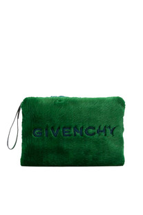 Emblem Large eco-fur pouch Givenchy