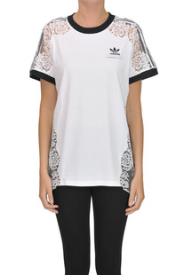 Lace inserts t-shirt Adidas by Stella Mccartney