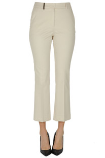 Textured cotton trousers Peserico