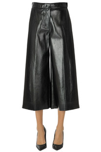 Cropped eco-leather trousers MSGM