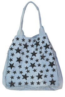 Studded denim shopping bag Mia Bag
