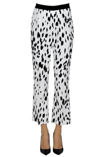 Spotted cotton trousers Twin-set  Simona Barbieri