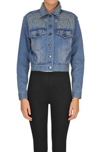 Studded denim jacket Alice+Olivia