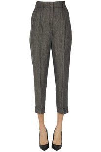 Cropped linen trousers Peserico