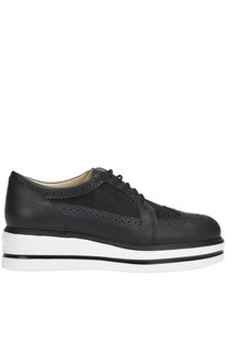 H323 Route leather derby shoes Hogan