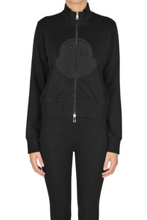 Zipped cotton sweatshirt Moncler