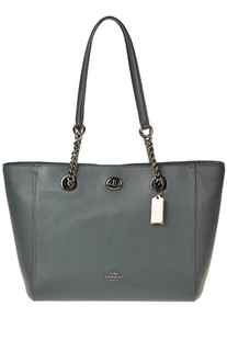Grainy leather tote bag Coach