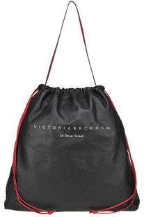 Designer logo nappa leather bag Victoria Beckham