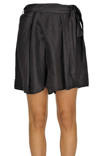 Flared satin shorts Forte_Forte