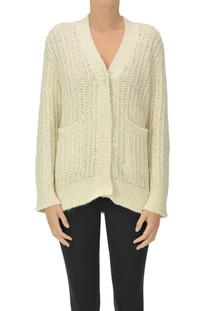 Knitted cardigan with lurex Base Milano
