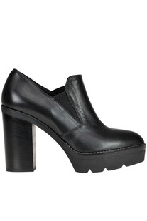 Leather platform shoes Janet Sport