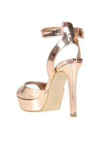 Metallic effect leco-eather sandals Guess