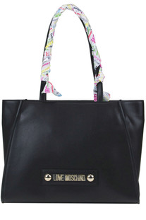 Eco-leather tote bag Love Moschino