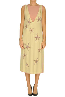 'Delibo' embellished crepè dress Dries Van Noten