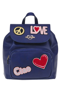 Eco-leather backpack Love Moschino