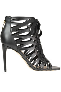 Cut-out eco-leather ankle boots Guess