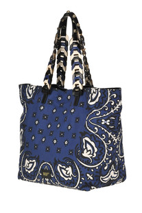 Printed canvas shopping bag RED Valentino