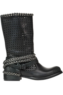 Cut-out leather boots Metisse