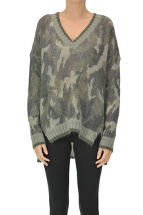Camouflage print pullover Twinset Milano