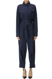 Nylon inserts cotton jumpsuit Moncler