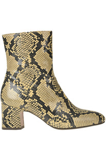 Reptile print leather ankle boots Chie Mihara
