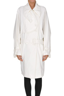 Oversized cotton trench MM6 by Maison Martin Margiela