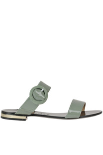 Patent-leather slides Marc Ellis