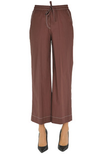 Cropped cotton trousers P.A.R.O.S.H.