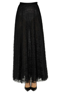 Pleated lace long skirt Dondup