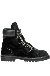 Breeze velvet lace-up boots Jimmy Choo