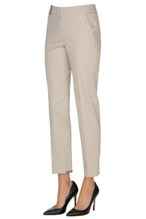 Cotton slim trousers Peserico