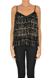 Sequined and fringed top Aniye By
