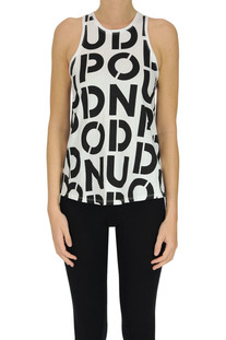Designer logo cotton tank-top Dondup