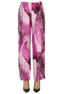 Printed satin trousers F.R.S for Restless Sleepers