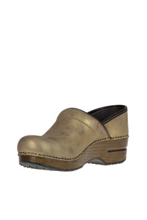 Professional Metallic effect leather clogs Dansko